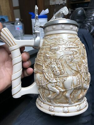 $ CDN52.66 • Buy 2002 Anheuser Busch World Famous Clydesdale Hitch Lidded Beer Stein #69427 #9