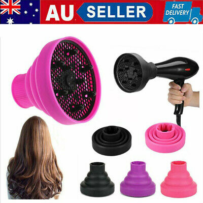 AU9.88 • Buy Silicone Hair Dryer Universal Travel Professional Salon Foldable Diffuser NEW