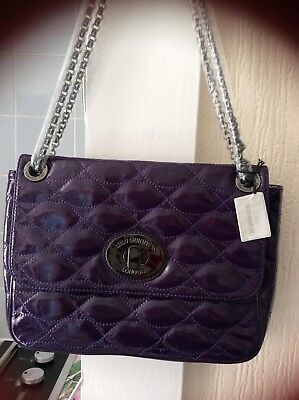 £139.99 • Buy Lulu Guiness Purple Patent Lips Shoulder Bag, With Dust Bag