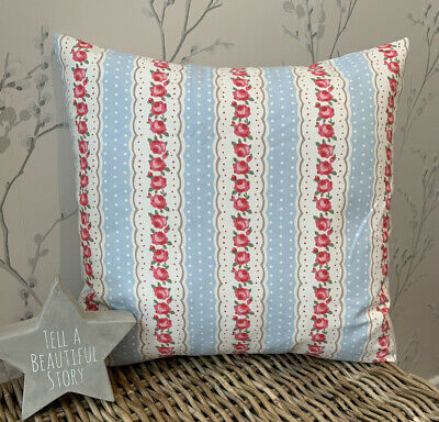 £6.50 • Buy Clarke And Clarke Shabby Chic Chloe Blue Floral 16  Cushion Cover