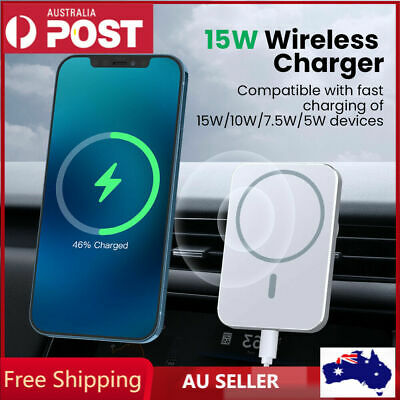 AU22.99 • Buy Magnetic Car Mount Wireless Charger With MagSafe For IPhone 13 Mini 12 Pro Max