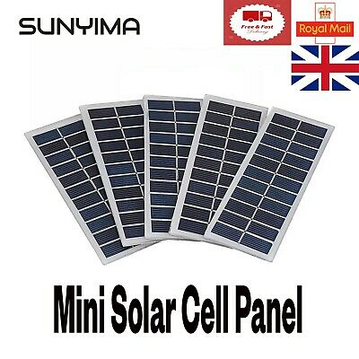 £4.99 • Buy 6V 1W Solar Panel For Any DIY Projects Camping Hiking Outdoor Garden Equipment