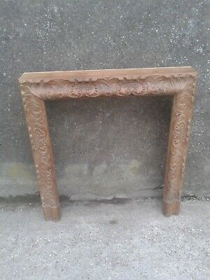 £150 • Buy Antique Carved Acanthus Leaf Pine Fire Surround