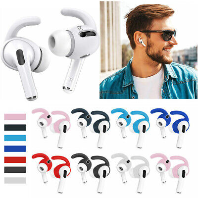 AU8.98 • Buy For Apple AirPods Pro Soft Silicone Ear Hook Earbud Slip-Proof Case Cover Sleeve