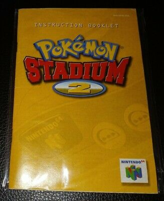 $26 • Buy N64 POKEMON STADIUM 2 Manual Excellent Condition Fast Free Shipping