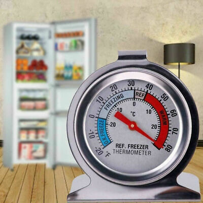 AU11.99 • Buy Stainless Steel Fridge Freezer Dial Thermometer Temperature Gauge Stands & Hangs