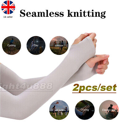 £3.11 • Buy 1 Pair Cooling Arm Sleeves Unisex UV Sun Protection Cover For Outdoor Bike Golf