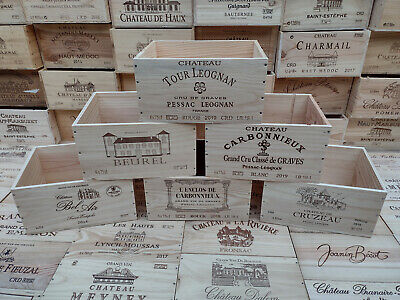 £12.95 • Buy Wine Box Crate. Wooden. 6 Bottle Size. French, Genuine. <2>