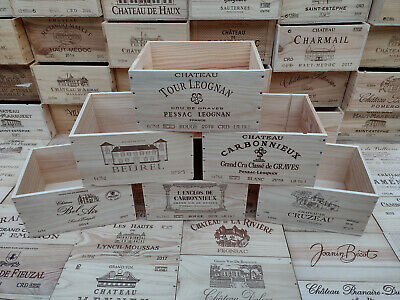 £12.95 • Buy Wine Box Crate. Wooden. 6 Bottle Size. French, Genuine. <3>