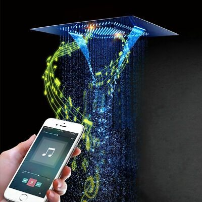 £3067.52 • Buy Phone Remote Controlled Shower Head Music LED Lights Rainfall Mist For Bathroom