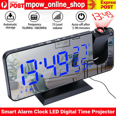 AU38.65 • Buy Smart Alarm Clock LED Digital Projection Temperature Time Projector LCD Display