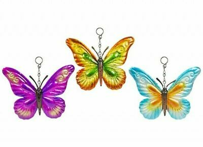 £7.99 • Buy 3 X Butterfly Metal Garden Wall Hanging Fence Ornament Decoration 22cm X 19cm