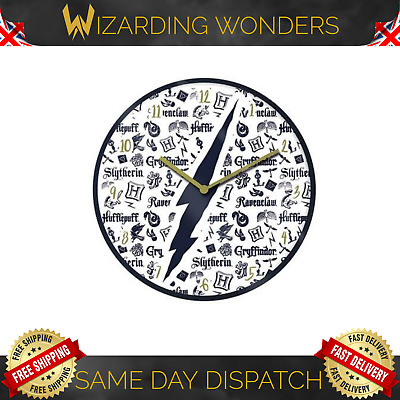 £12.95 • Buy Harry Potter Infographic Wall Clock Hogwarts Official Gift UK