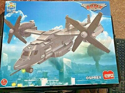 £19.99 • Buy Lego Compatible Army Hero Soldier Osprey Helicopter 429 Pcs(qiaoletong Ts20143a)