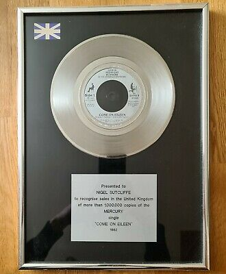 £150 • Buy Dexys Midnight Runners - Come On Eileen - In-House Platinum Award Disc (BPI)