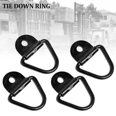 AU18.47 • Buy 4pcs D_Ring Tie Down Anchors Heavy Duty Steel For Car Cargo Trailers Boat-