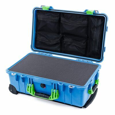 £170.38 • Buy Blue & Lime Green Pelican 1510 Case With Foam & Mesh Organizer. + Nameplate