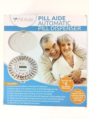 £38.62 • Buy Pill Aide Automatic Pill Dispenser Easy To Set Up To 6 Alarms Tamper Proof Lock