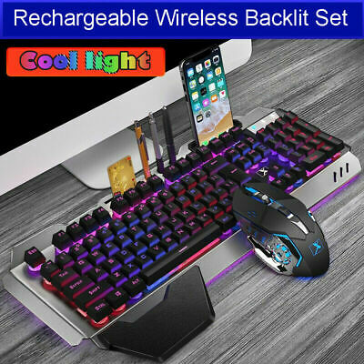 AU58.99 • Buy AU Wireless Gaming Keyboard And Mouse Rechargeable LED Backlit For PS4 PC Gamers