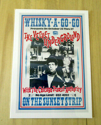 £3.99 • Buy The Velvet Underground : Whisky A Go Go : A4 Glossy Reproduction Poster