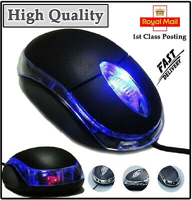 £3.79 • Buy USB Wired Optical Mouse Light Scroll Wheel Mice For PC Laptop Computer BLACK UK