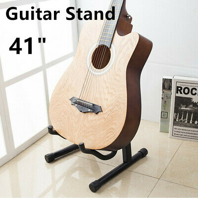 AU19.55 • Buy Foldable Guitar Stand Floor Portable Rack Electric Acoustic Bass Frame Holder