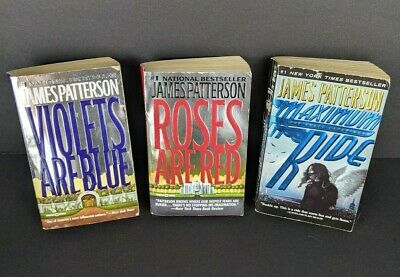£8.18 • Buy James Patterson Lot Of 3 Books Violets Are Blue Roses Are Red Maximum Ride
