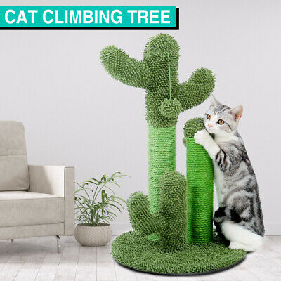 AU33.49 • Buy Cat Toys Tree Scratching Post House Furniture Stand Pole Kitten Climbing Cactus
