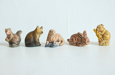 £6 • Buy 5 Vintage Wade Whimsy Whimsies Ornaments Rabbit Fox Squirrel Otter Mouse