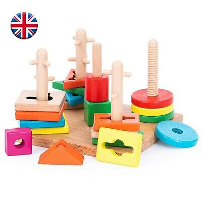 £14.99 • Buy TOTJOY Montessori Toys For 2 Year Olds Wooden Sensory Educational Toy Toddlers