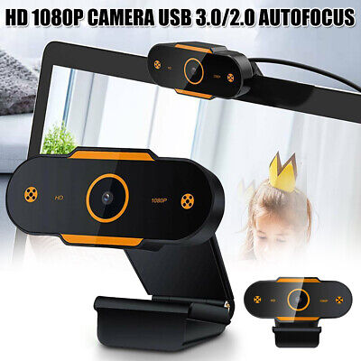 AU18.99 • Buy HD Gaming Webcam 1080P With Microphone USB 2.0 60 Fps PC Streaming Web Camera