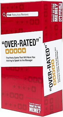 AU33.95 • Buy Over-Rated Card Game By What Do You Meme? For Ages 17 And Up