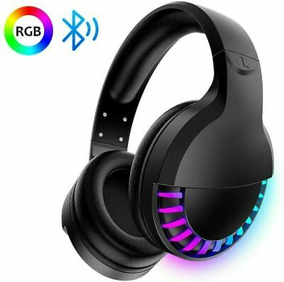 AU41.45 • Buy AU Wireless Bluetooth Gaming Headset RGB Backlit Microphones Stereo For IOS Xbox