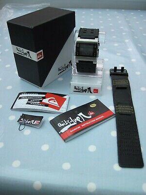 £80 • Buy Quiksilver Surf Watch Random  With Box , Tags ,instructions And New Animal Strap