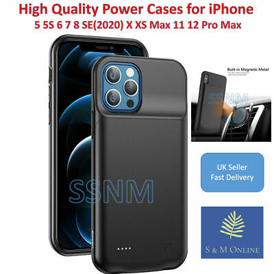 £17.94 • Buy IPhone Battery Power Case For IPhone X XS XS MAX XR 11 12 Pro Max 5 6 6s 7 8 UK