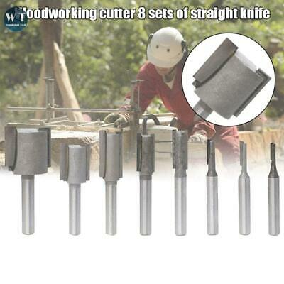 £9.92 • Buy 8Pcs 1/4 Shank Straight Slotted Router Bit For Woodworking Cutter Set 6.35mm