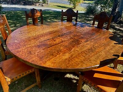 AU5500 • Buy Handcrafted  'old Swamp'  Kauri  Conference Table & Eight Chairs