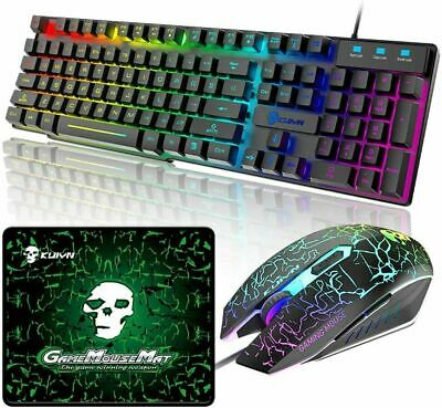 AU32.19 • Buy AU Wired Gaming Keyboard And Mouse Set RGB Backlit For PC PS4 Xbox Mechanical