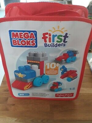 £8.90 • Buy Mega Bloks First Builders Zoomin Vehicles 20 Pieces 8n Carry Case