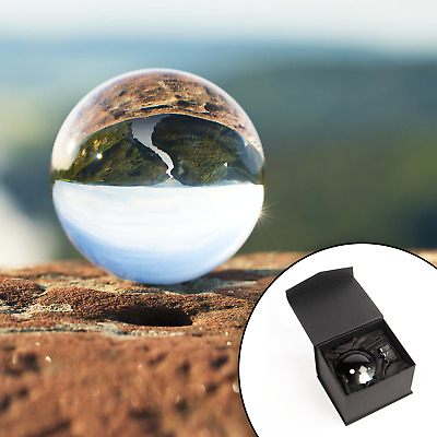 £9.84 • Buy Clear Crystal Ball 80mm K9 Glass Lens Sphere Photography & Decoration M&W