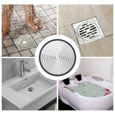 £4.90 • Buy Shower Bathroom Drain Protector Cover Hair Catcher Trap Mesh Stainless Steel UK