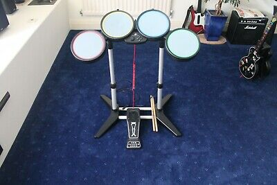 £40 • Buy Rock Band Drum Kit For PlayStation 3 PS3 Including Game Disk + Enhanced Pedal