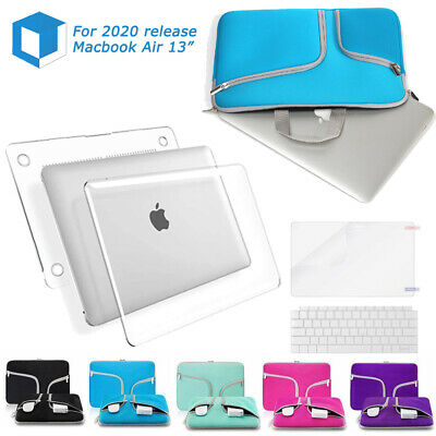 """$13.99 • Buy Fr Macbook Air 13"""" Clear Cover Case /Sleeve Bag Keyboard Protector 2020 M1 A2337"""