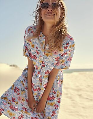 £24.95 • Buy Joules Womens Ella Angled Seamed Dress - Blue Floral