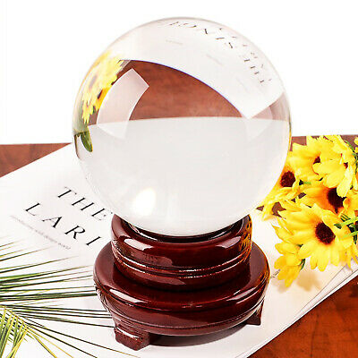 £10.89 • Buy 100mm Clear Crystal Ball Magic Healing Meditate Sphere Photography + Stand UK