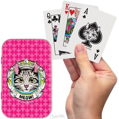 """£6.95 • Buy Archie McPhee """"Crazy Cat Lady"""" Kitty Playing Cards In Tin Box"""