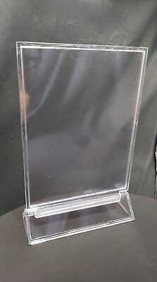 £4.59 • Buy Plastic Table Stand Menu Sign Holder Wipeable Acrylic Perspex Counter Display