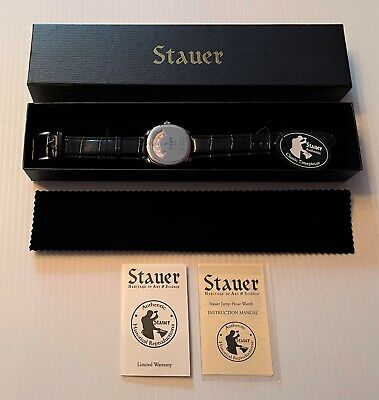 £127.27 • Buy Stauer 1930 DASHTRONIC Automatic 21 Jewels Jump Hour Men's Watch New, Complete!