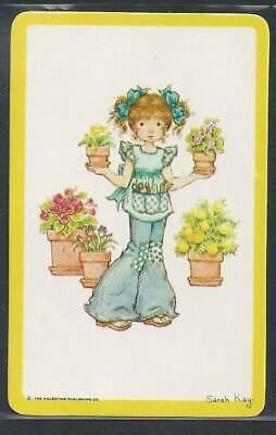 AU2 • Buy #920.338 Blank Back Swap Card -MINT- GENUINE Sarah Kay Girl In Jeans With Plants