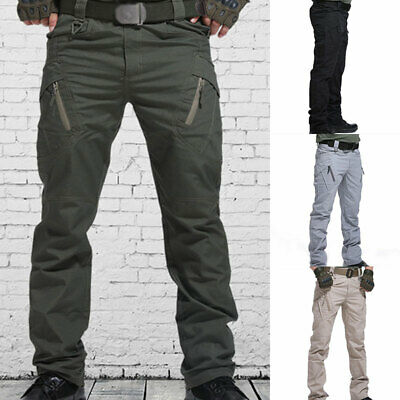 £14.02 • Buy Mens Pockets Tactical Trousers Soldier Fishing Cargo Hiking Pants Combat Outdoor